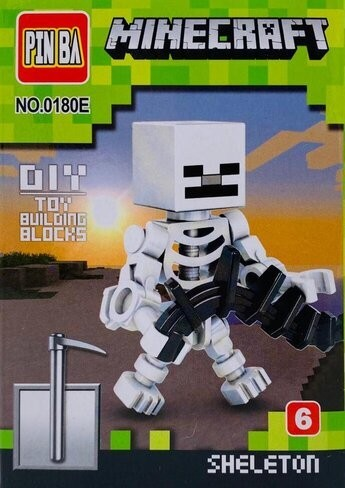 Mini Figurina de Tip Lego Minecraft SKELETON imagine techstar.ro 2021