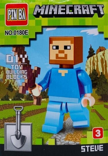 Mini Figurina de Tip Lego Minecraft STEVE imagine techstar.ro 2021