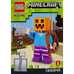Mini Figurina, de Tip Lego, Minecraft, CREEPER