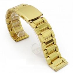 Bratara pentru ceas aurie 22 mm 24 mm