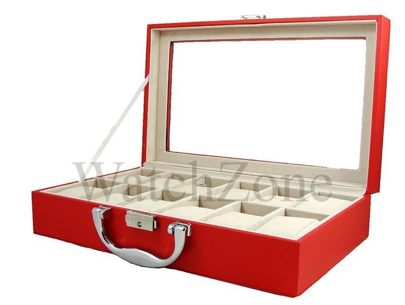 Cutie pentru depozitare si organizare 12 ceasuri ROSIE imagine techstar.ro 2021