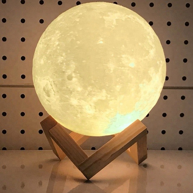 Lampa LUNA 3D Multicolora RGB 7 Culori - Veioza rupta din cer imagine techstar.ro 2021