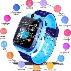 Ceas GPS Copii SW70-Q12, SIM, Monitorizare, Camera, Buton Apel SOS - Albastru