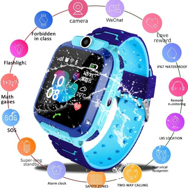 Ceas GPS Copii SW70-Q12, SIM, Monitorizare, Camera, Buton Apel SOS - Albastru imagine techstar.ro 2021