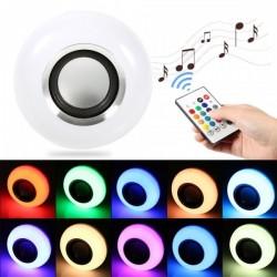 Bec muzical inteligent cu LED bluetooth telecomanda lumini colorate
