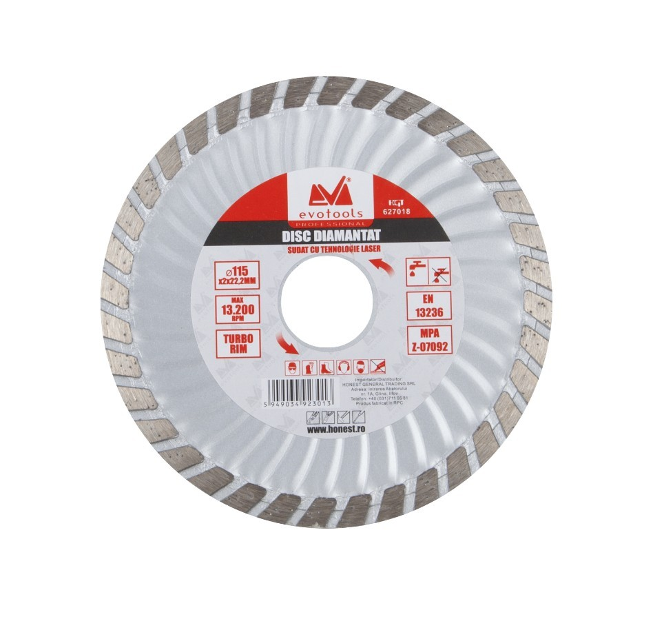 Disc Diamantat Turbo ETP Diametru 115mm Evotools Professional imagine techstar.ro 2021