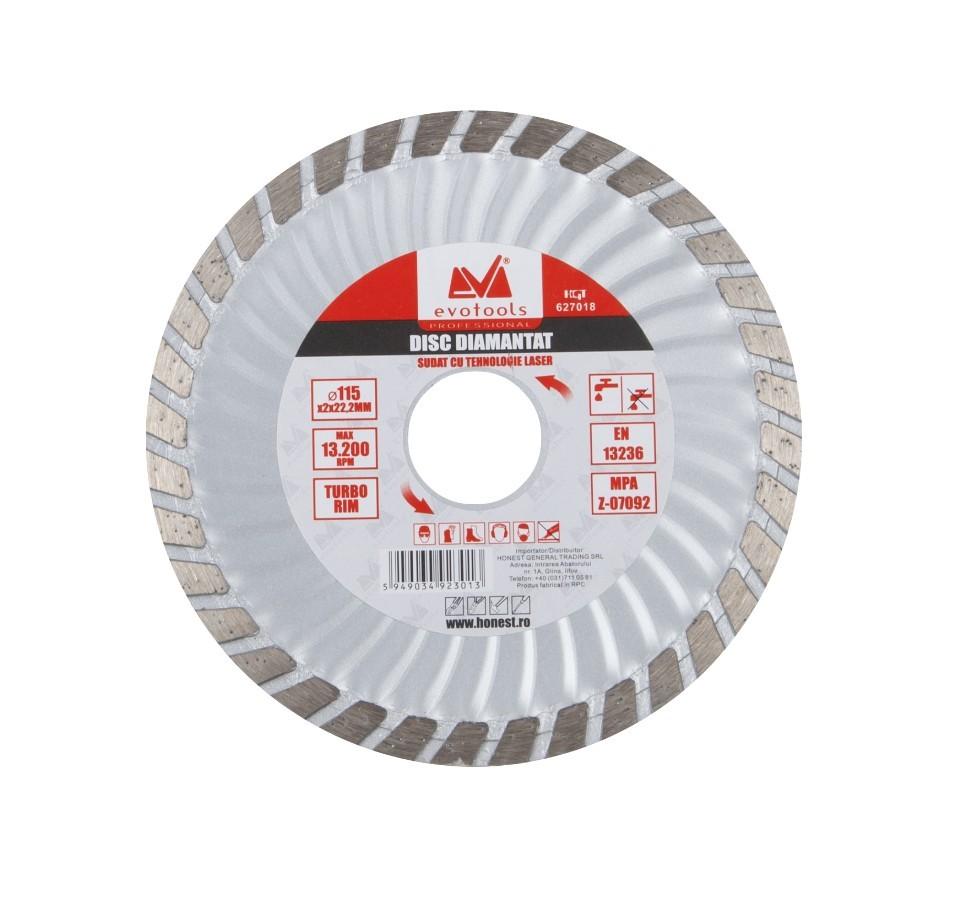 Disc Diamantat Turbo ETP Diametru 150mm Evotools Professional imagine techstar.ro 2021