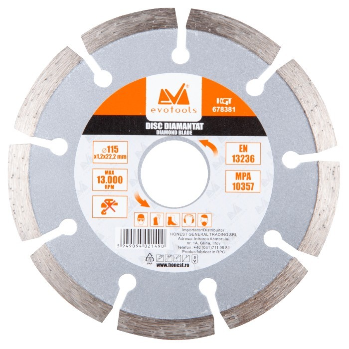 Disc Diamantat Uscat 5262 ETS Diametru 115mm imagine techstar.ro 2021