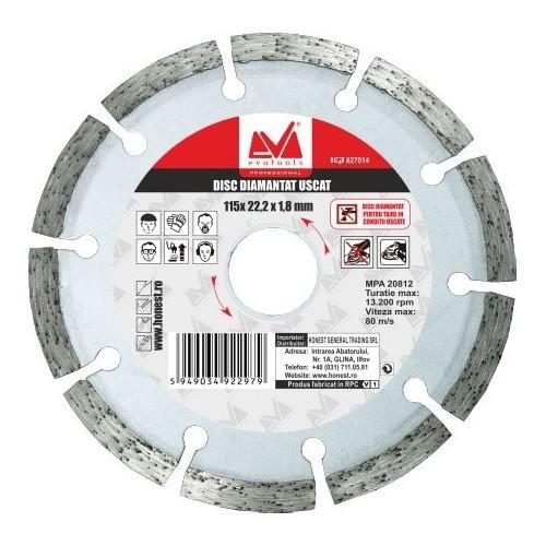 Disc Diamantat ET(R) (Uscat) Evotools - Diametru: 125 mm imagine techstar.ro 2021