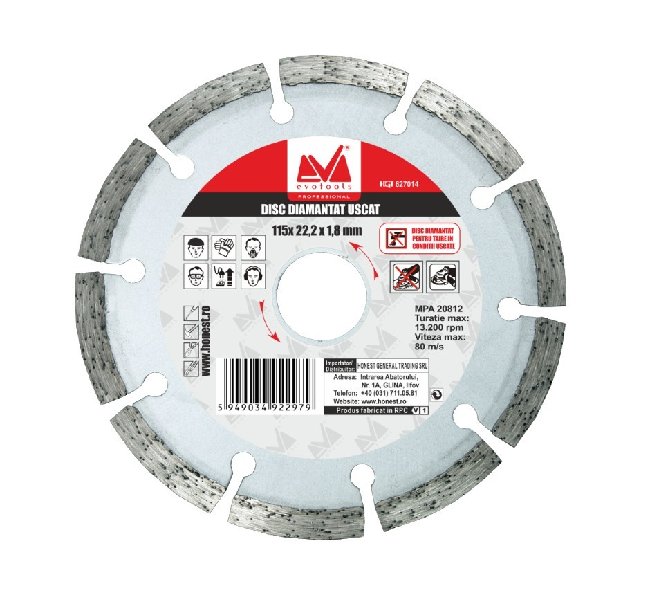 Disc Diamantat Uscat ETP Diametru 180mm imagine techstar.ro 2021