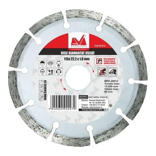 Disc Diamantat Uscat 230mm imagine techstar.ro 2021