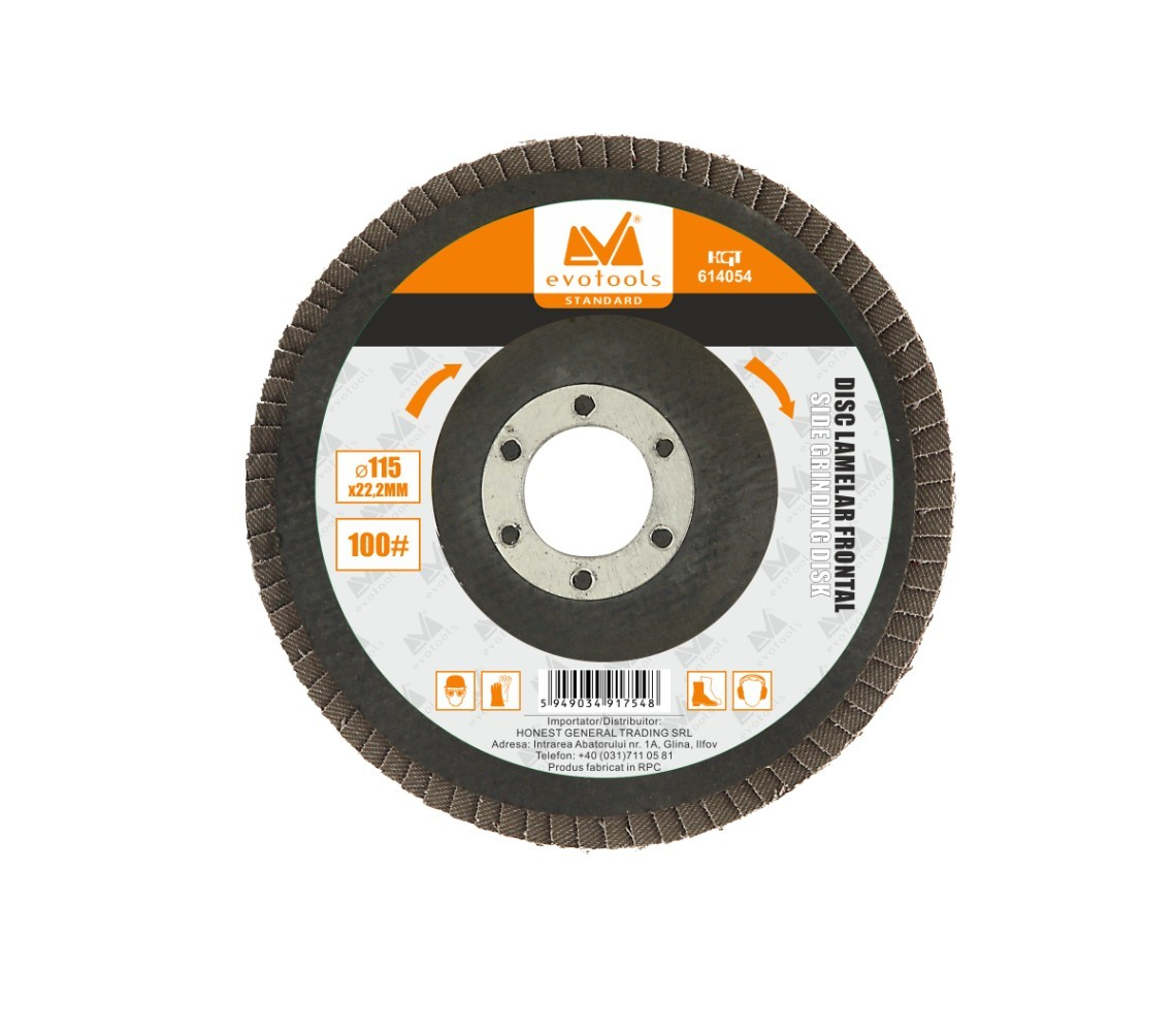 Disc Lamelar Frontal Diametru 115mm, Granulatie 100 imagine techstar.ro 2021