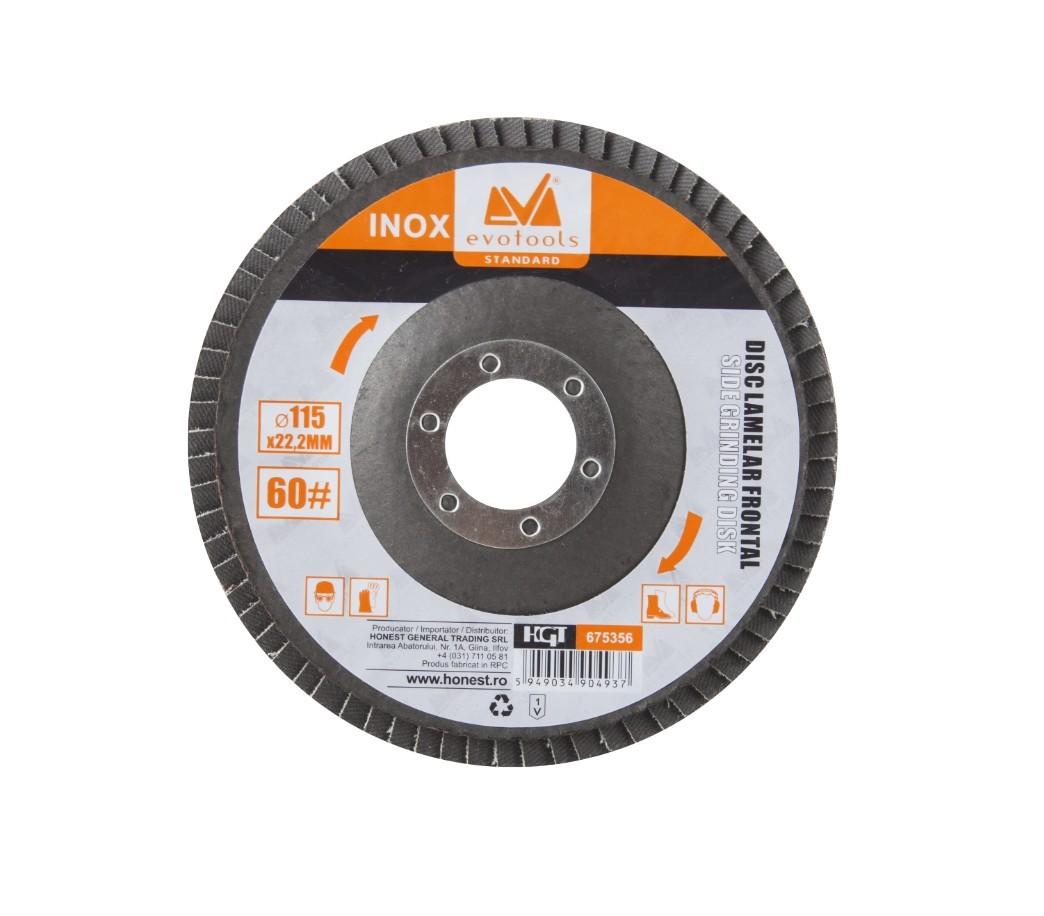 Disc Lamelar Frontal Inox Diametru 115mm, Granulatie 60 imagine techstar.ro 2021