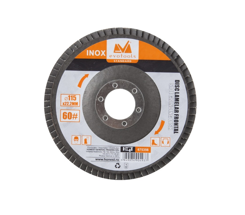 Disc Lamelar Frontal Inox Diametru 125mm, Granulatie 120 imagine techstar.ro 2021