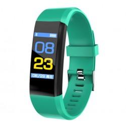 "Bratara Smart Fitness Techstar® ID115 Plus Fitness, 0,95"" OLED, BT4.0, Waterproof IP65, Verde"