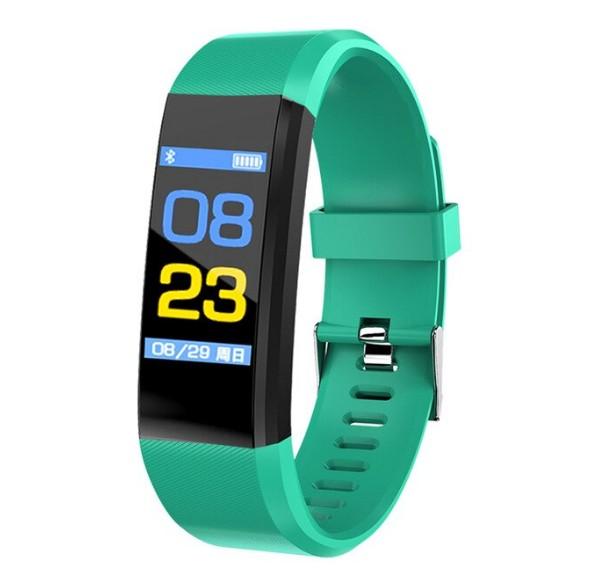 "Bratara Smart Fitness Techstar® ID115 Plus Fitness, 0,95"""" OLED, BT4.0, Waterproof IP65, Verde imagine techstar.ro 2021"