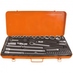 Trusa chei tubulare cu accesorii Evotools 609034, 4-32 mm, valiza metalica, 52 piese