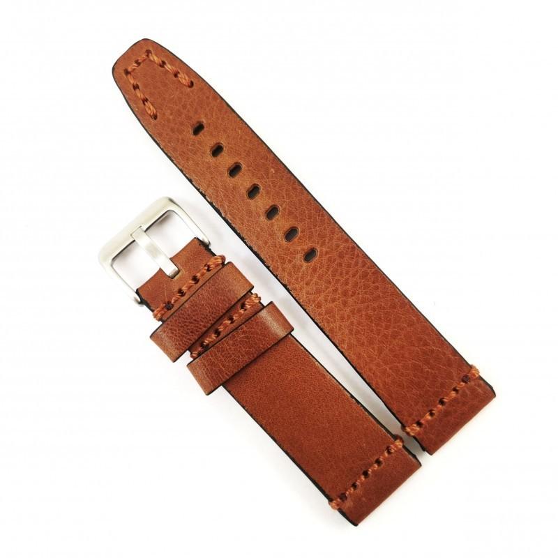 Curea de ceas maro-deschis din piele naturala 20mm 22mm 24mm 26mm WZ4180 imagine techstar.ro 2021
