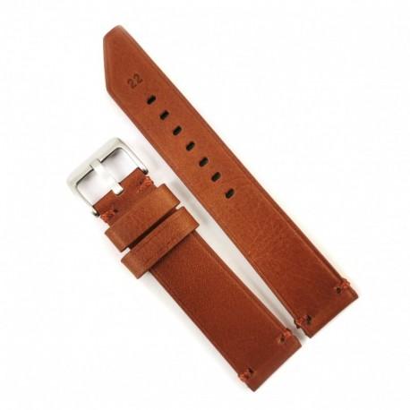 Curea de ceas Anti-alergica maro din piele naturala 20mm, 22mm, 24mm - WZ4176