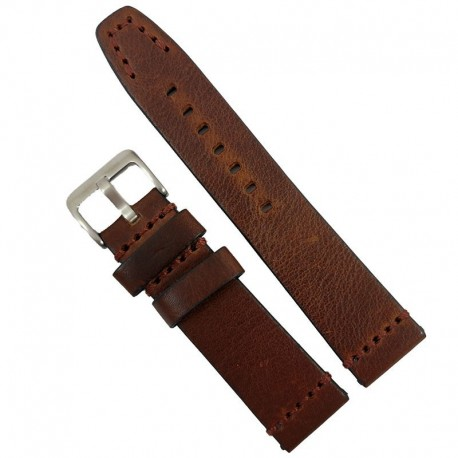 Curea de ceas maro din piele naturala 20mm 22mm 24mm 26mm WZ4166