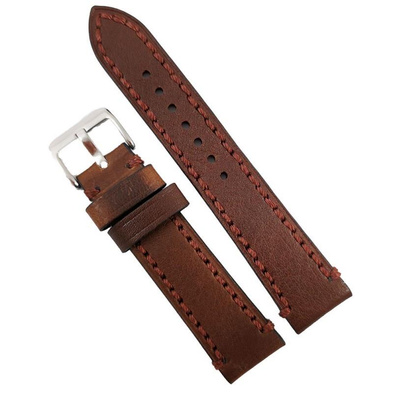 Curea de ceas maro din piele naturala 18mm 20mm 22mm 24mm 26mm WZ4164 imagine techstar.ro 2021
