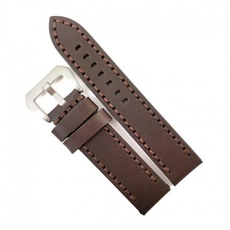 Curea de ceas maro din piele naturala 20mm 22mm 24mm WZ4163