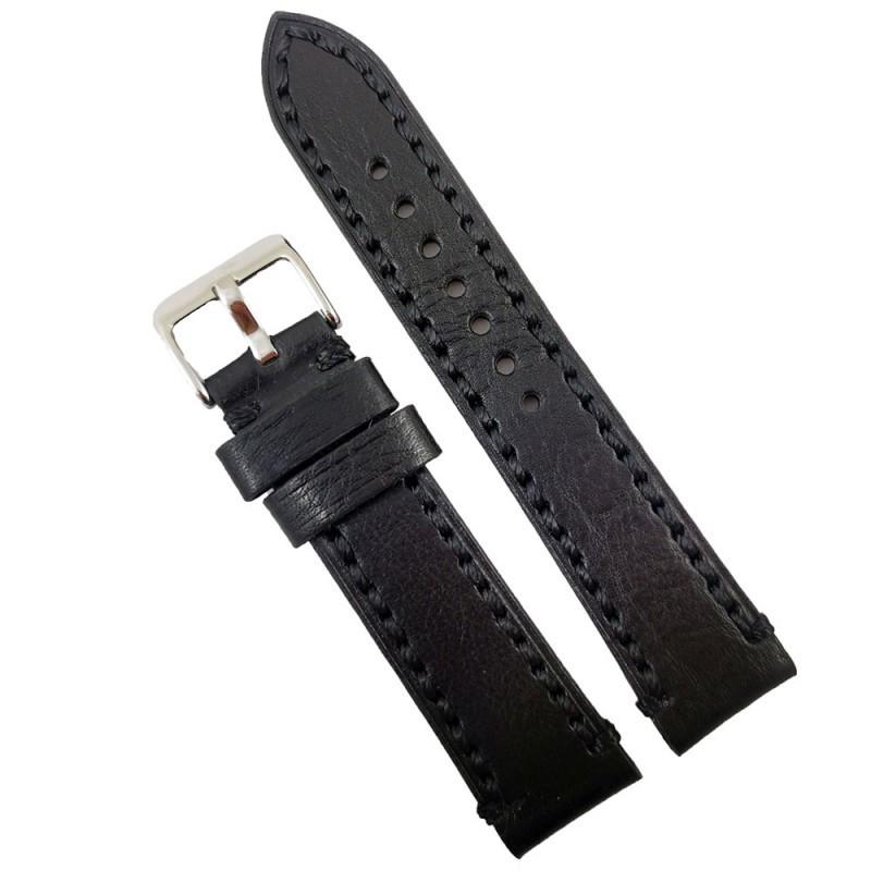 Curea de ceas neagra din piele naturala 18mm 20mm 22mm 24mm 26mm WZ4160 imagine techstar.ro 2021