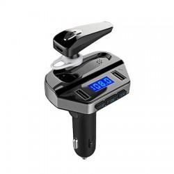 Kit Modulator MP3 V6, Handsfree, 12 V, 2 x USB, + Casca Bluetooth