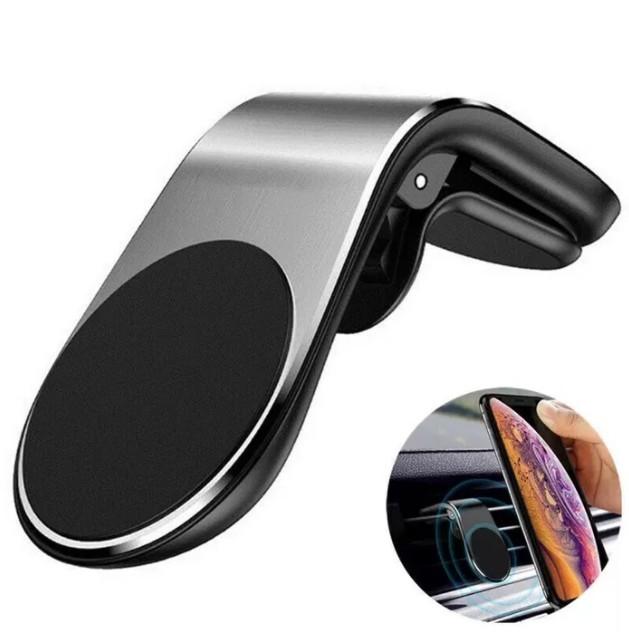 Suport Magnetic Auto Slim Pentru Telefon cu Placuta Metalica, Diverse culori imagine techstar.ro 2021