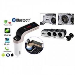 Modulator FM auto Bluetooth + Priza bricheta tripla USB
