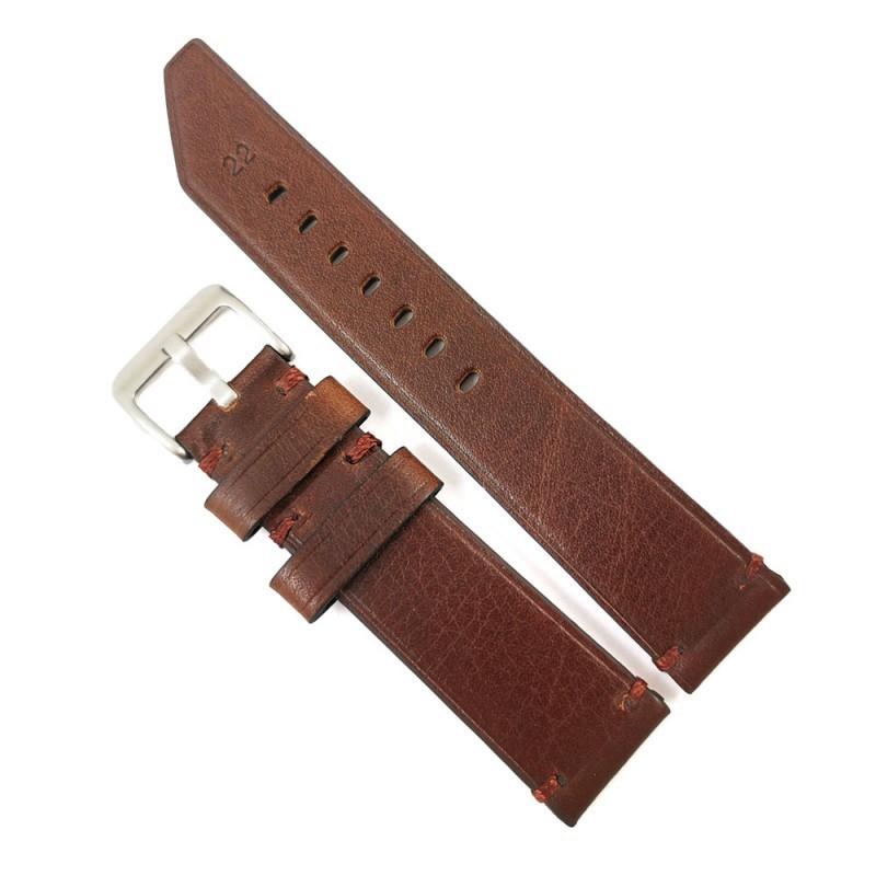 Curea de ceas maro din piele naturala 20mm 22mm 24mm WZ4159 imagine techstar.ro 2021