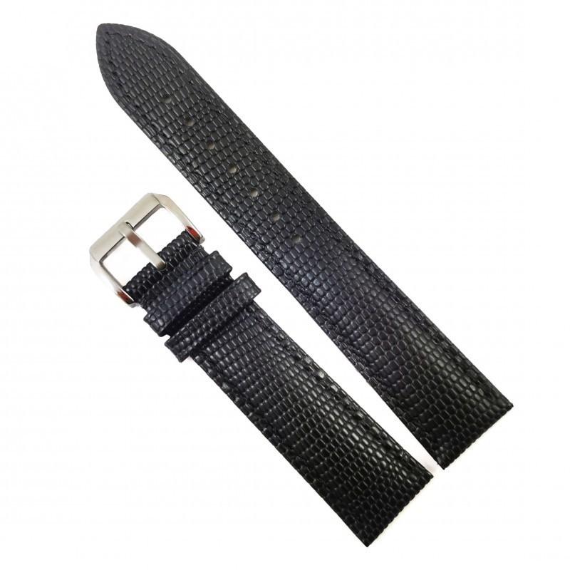Curea ceas din piele neagra 20mm 22mm 24mm WZ4155