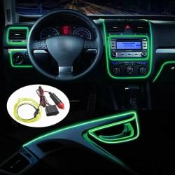 Banda LED Auto De Interior, Verde + Droser 12V, 2 Metri