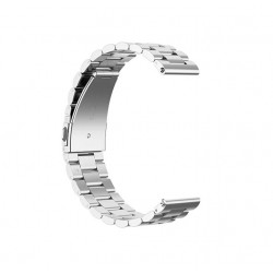 Bratara Ceas din Otel Inoxidabil, Argintie - 22mm