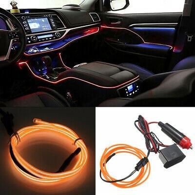 Banda LED Auto De Interior, Portocaliu + Droser 12V, 2 Metri imagine techstar.ro 2021
