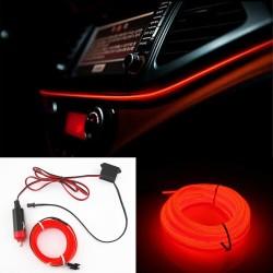 Banda LED Auto De Interior, Rosu + Droser 12V, 2 Metri