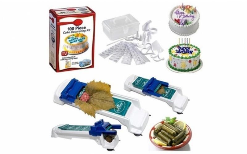 SETUL GOSPODINEI Aparat de facut sarmale +Kit 100piese decorat prajituri