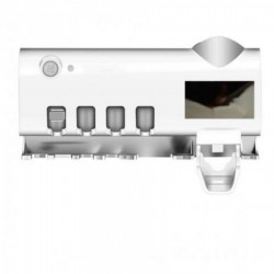 Dozator Lumina UV, Pasta De DintiSuport Periute Cu Functie de sterilizare Antibacterialasi