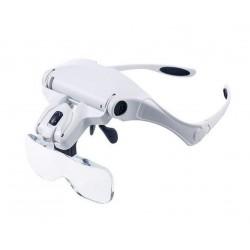 Ochelari cu 5 tipuri de lupe si LED