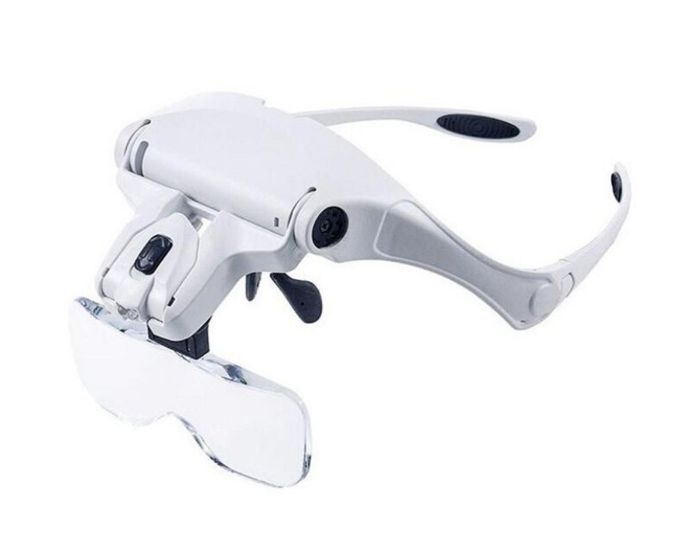 Ochelari cu 5 tipuri de lupe si LED imagine techstar.ro 2021