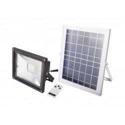 Proiector LED cu Incarcare Solara si Telecomanda Putere 12W (Set)