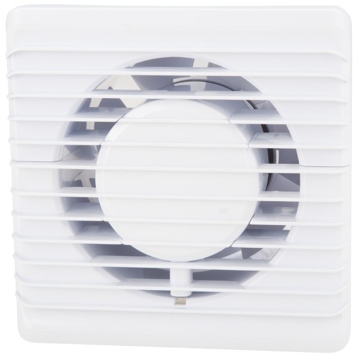 Ventilator baie Evosanitary 100, cu timer, 8W, 135x135mm, diametru evacuare 100mm, debit aer 93mc/h imagine techstar.ro 2021