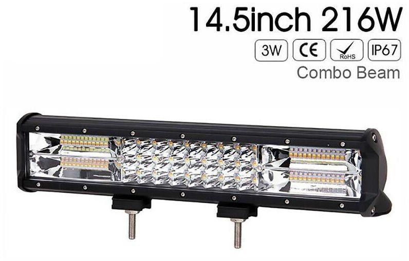 Led bar 15 inch, 216W stroboscop 12v-24v calitate superioara produs pentru U.S.A+cadou imagine techstar.ro 2021