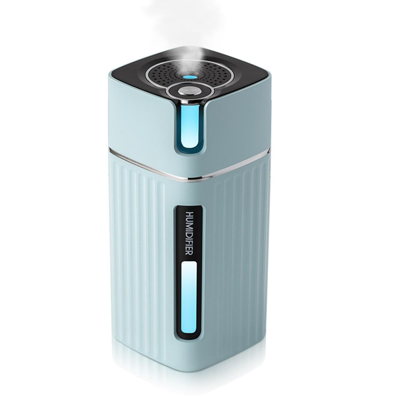 Umidificator Techstar® cu Iluminare LED RGB, Aromaterapie, Pentru Casa, Birou, 300ml, Albastru imagine techstar.ro 2021