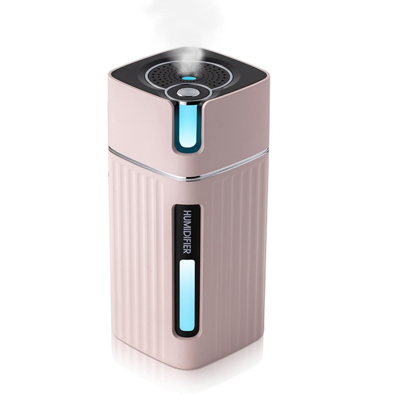 Umidificator Techstar® cu Iluminare LED RGB, Aromaterapie, Pentru Casa, Birou, 300ml, Roz imagine techstar.ro 2021