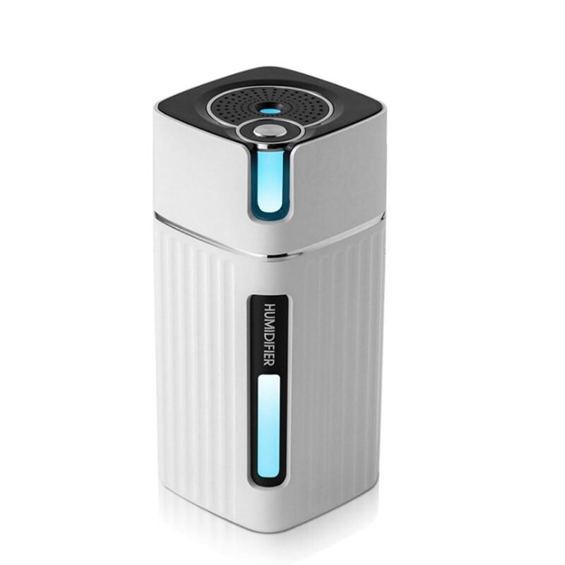 Umidificator Techstar® cu Iluminare LED RGB, Aromaterapie, Pentru Casa, Birou, 300ml, Alb imagine techstar.ro 2021