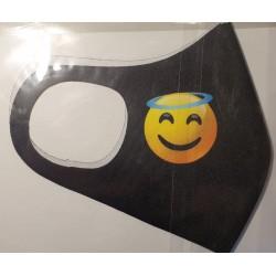 Masca protectie Emoji ingeras, reutilizabila + cadou