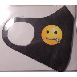 Masca protectie Emoji fermoar la gura, Reutilizabila