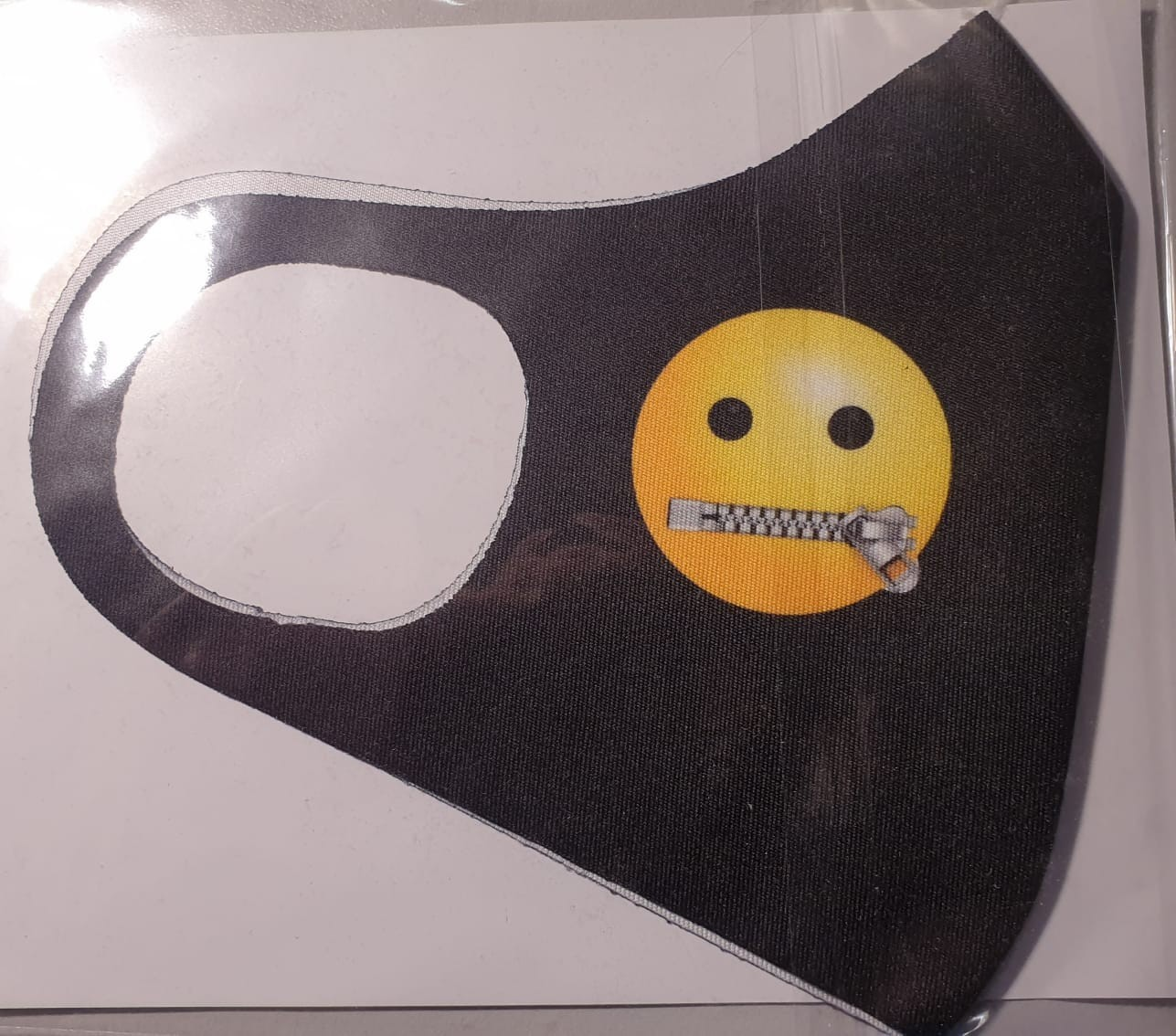Masca protectie Emoji fermoar la gura, Reutilizabila + cadou imagine techstar.ro 2021
