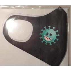 Masca protectie Emoji virus, Reutilizabila + cadou